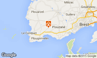 Map Locmaria-Plouzané Apartment 90722