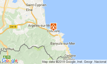Map Collioure Apartment 113025