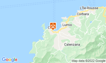 Map Calvi Apartment 112702