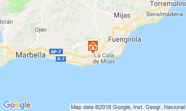 Map La Cala de Mijas Apartment 116746