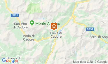 Map Pieve di Cadore Apartment 119819