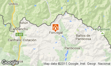 Map Formigal One-room apartment 39520