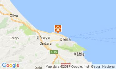 Map Denia Bungalow 108044