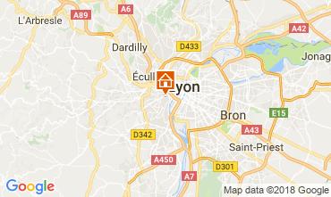 Map Lyon One-room apartment 113606