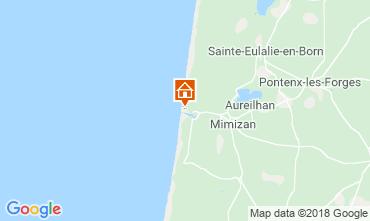 Map Mimizan Apartment 116165