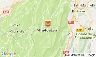 Map Villard de Lans - Corrençon en Vercors Apartment 112217