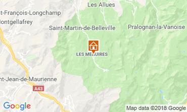 Map Les Menuires Apartment 116688