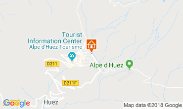 Map Alpe d'Huez One-room apartment 116847