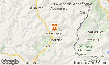 Map Montriond Chalet 1949