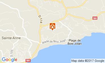 Map Sainte Anne (Guadeloupe) Bungalow 58644