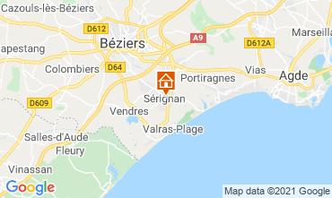 Map Sérignan Plage Apartment 93177