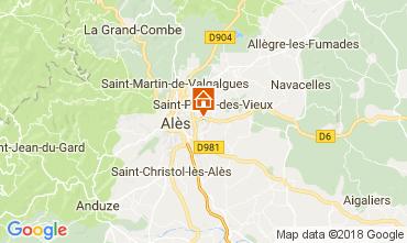 Map Alès Villa 113334