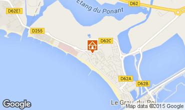 Map Le Grau du Roi Apartment 72770
