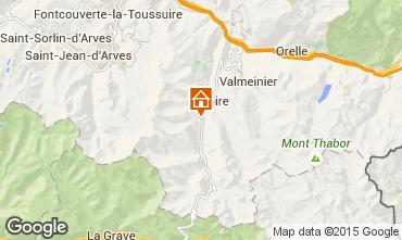 Map Valloire Apartment 3372