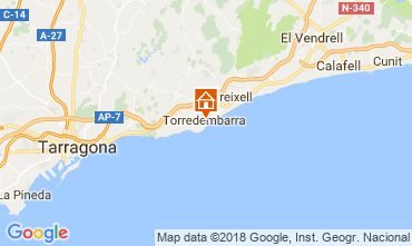 Map Torredembarra Apartment 113650