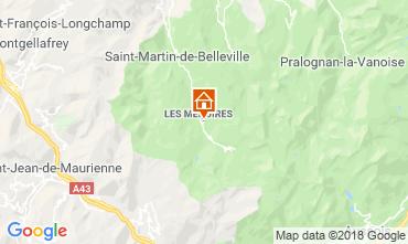 Map Les Menuires One-room apartment 117582