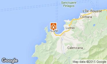 Map Calvi Apartment 69581