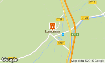 Map Lamanon Vacation rental 63660