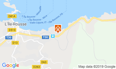 Map Location Ile Rousse Apartment 16871