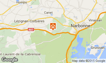 Map Narbonne Vacation rental 93393