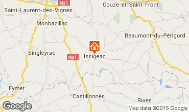 Map Issigeac Vacation rental 92534
