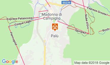 Map Madonna di Campiglio One-room apartment 106675