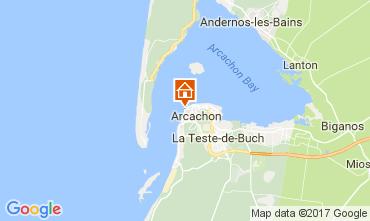 Map Arcachon One-room apartment 110773