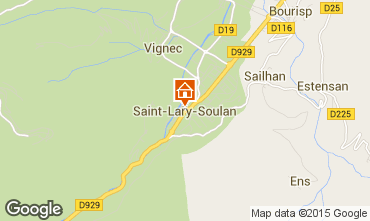 Map Saint Lary Soulan One-room apartment 65664