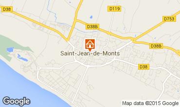 Map Saint Jean de Monts Apartment 61532