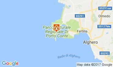 Map Alghero Villa 107841