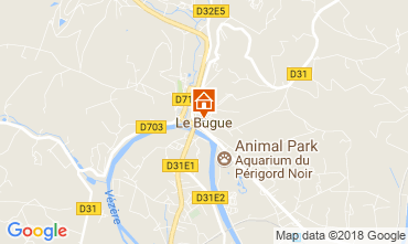 Map Le Bugue Vacation rental 114106