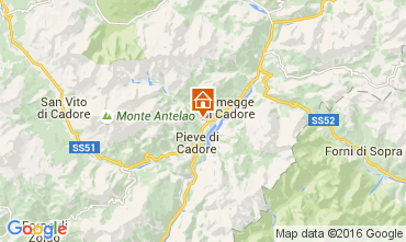 Map Cortina d'Ampezzo Apartment 50125