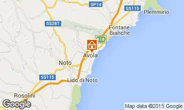 Map Avola One-room apartment 26428