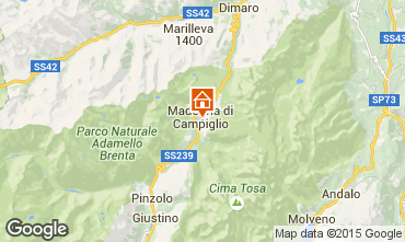 Map Madonna di Campiglio One-room apartment 92365