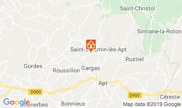 Map Saint Saturnin les Apt Vacation rental 118385