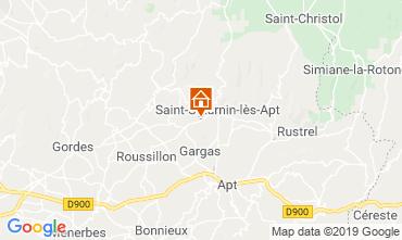 Map Saint Saturnin les Apt Vacation rental 118385