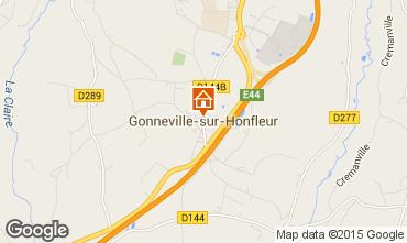 Map Honfleur Vacation rental 61976