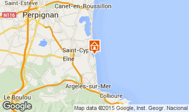 Map Perpignan Apartment 8720