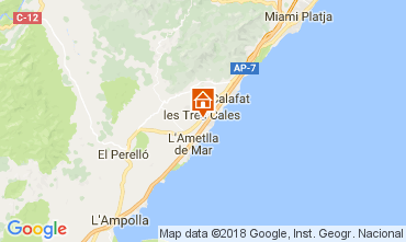 Map La Ametlla de Mar Villa 113378