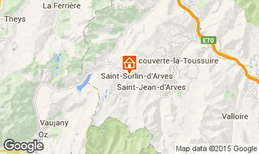 Map Saint Sorlin d'Arves Chalet 2686