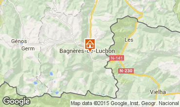 Map Luchon Superbagneres Apartment 29115