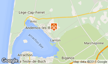 Map Andernos les Bains Vacation rental 91292