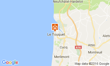 Map Le Touquet Apartment 106167
