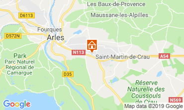 Map Arles Vacation rental 119570