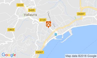 Map Golfe Juan Apartment 113822