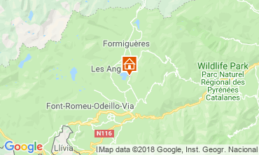 Map Les Angles Chalet 116825