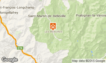 Map Les Menuires One-room apartment 59631