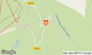 Map Courchevel Apartment 90322