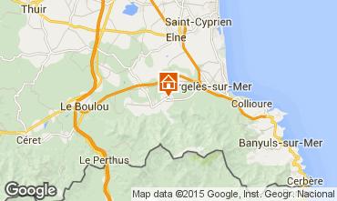 Map Argeles sur Mer Vacation rental 9835