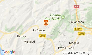 Map La Clusaz Chalet 112531